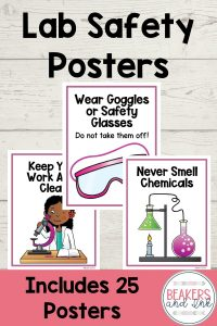 These lab safety posters are great for bulletin boards in the middle school classroom