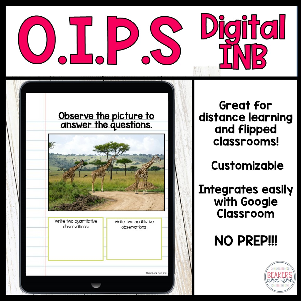 observation inference prediction digital interactive notebook