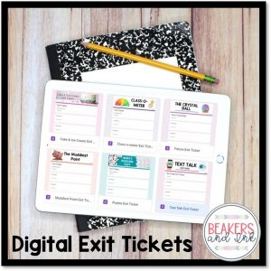 digital exit tickets are great for formative assessment