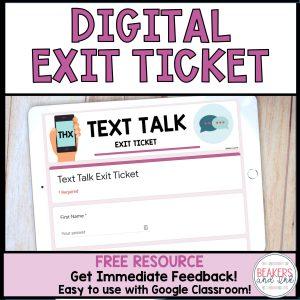 free digital exit ticket