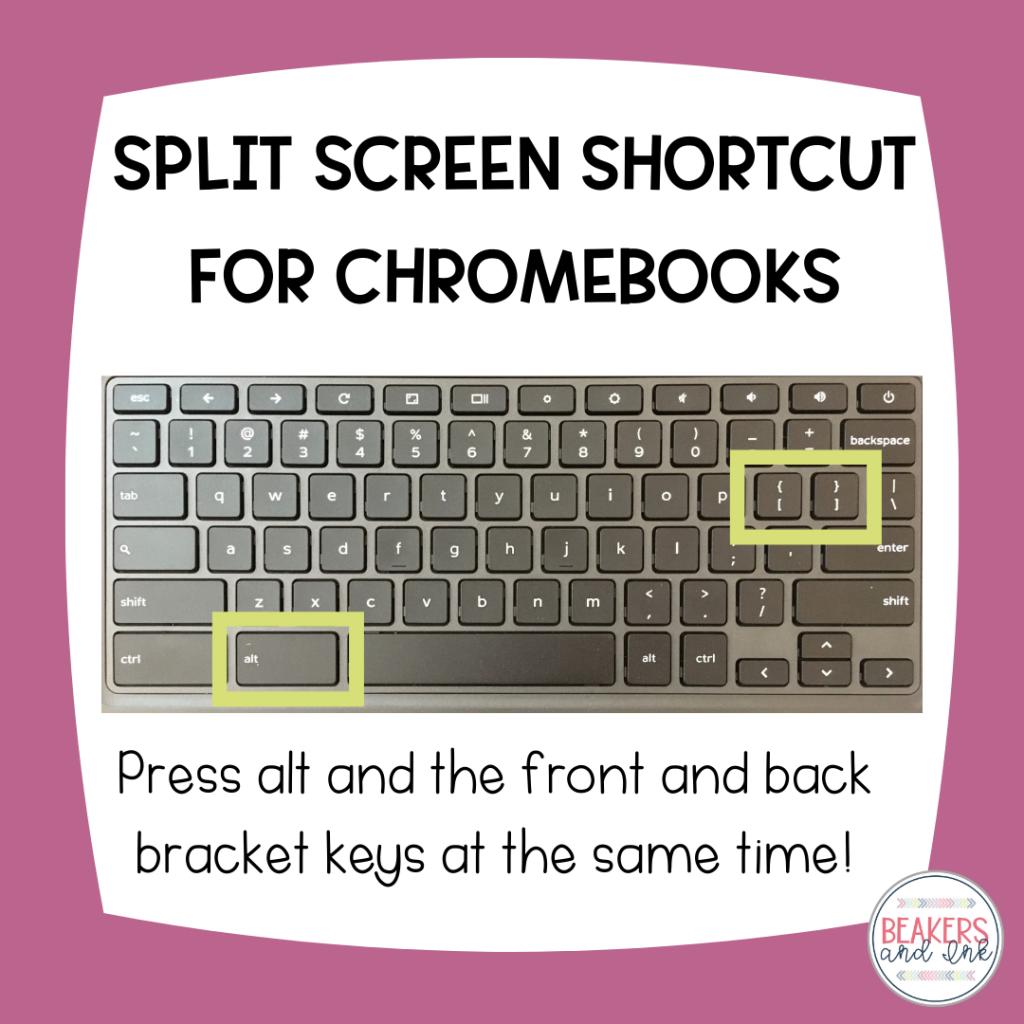 split screen shortcut for chromebooks