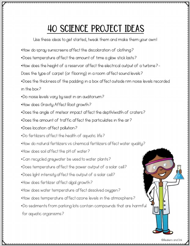 science fair ideas list