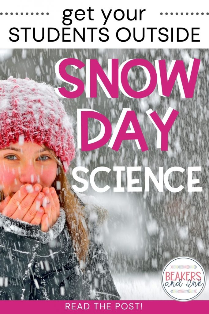 snow day science and math activity