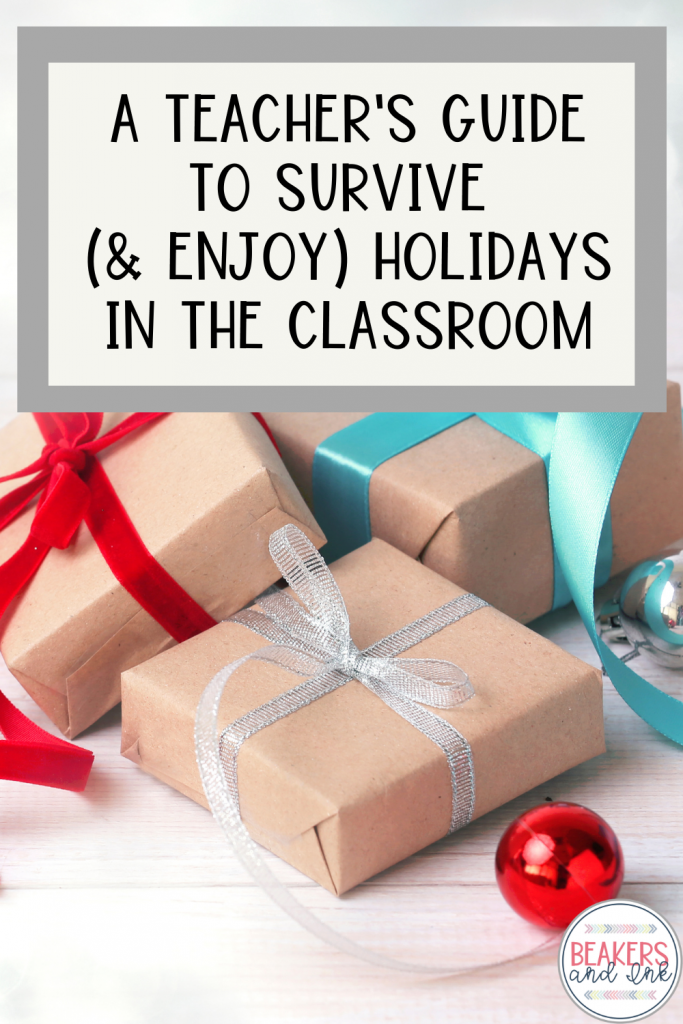 teacher's guide to survive the holidays