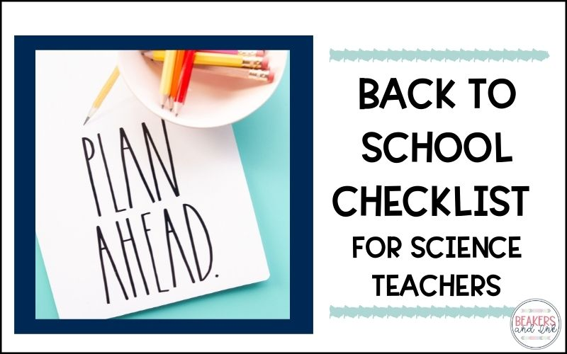 The Back to School Checklist for Science Teachers